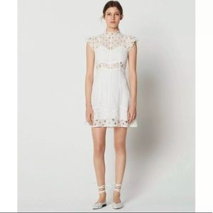 NWT Sandro white eyelet lace Jannie dress, size 36